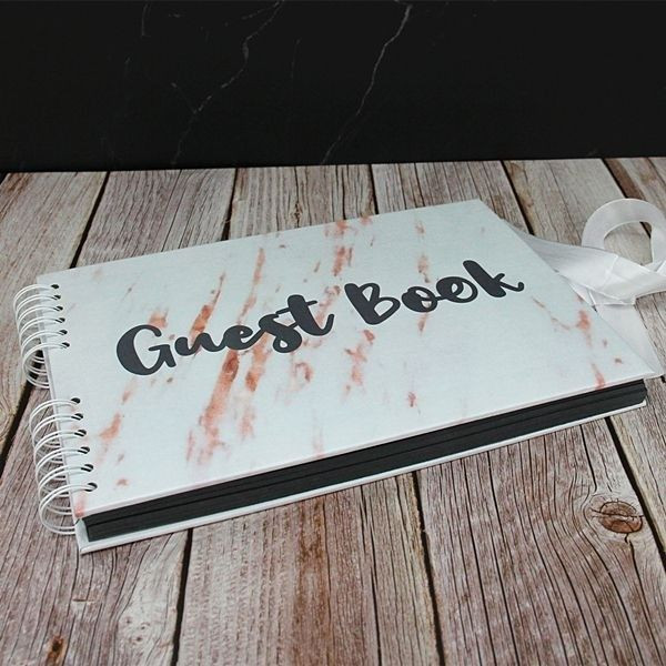 white_marble_black_guest_book_writting_6