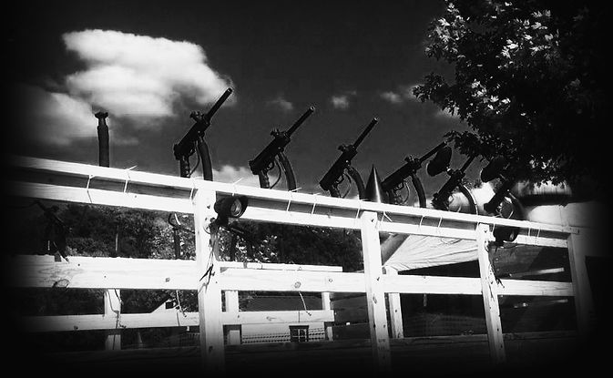 Haunted paintball guns at Brookdale Farms