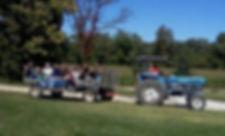tractor-drawn hayride at Brookdale Farms in Eureka, MO