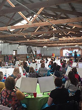 Paint party inside the Barn at Brookdale Farms
