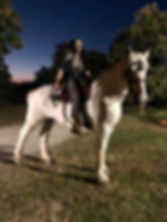 Haunted rider on horseback at Eureka Fear Farm