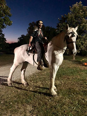Haunted rider on horseback at Eureka Fear Farm