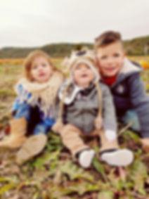 Children at Brookdale Farms pumpkin patch