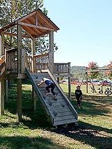 playground and horse swings at Brookdale Farms