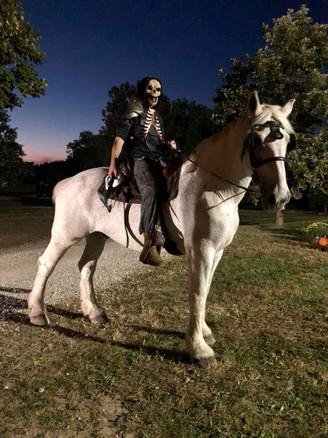 Haunted Horse and Rider - Eureka Fear Fa
