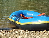 blue 6-man raft from Brookdale Farms