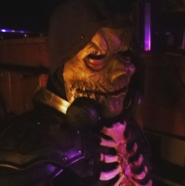 Masked skeleton at Eureka Fear Farm - St