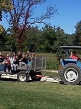 tractor-drawn hayrides at Brookdale Farms