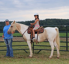 Pony rides at Brookdale Farms