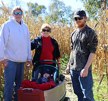 Family in Corn Maze at Brookdale Farms