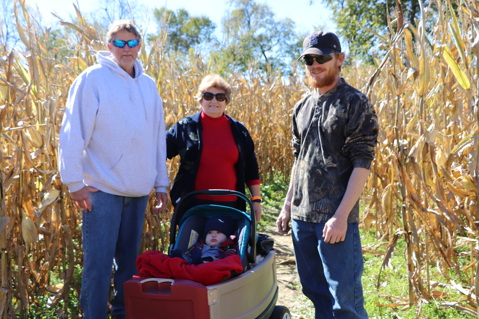 Family enjoying Corn Maze at Brookdale Farms