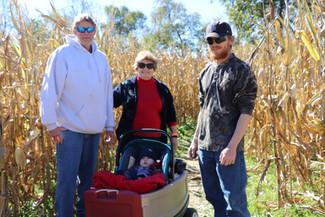 Family enjoying Corn Maze at Brookdale Farms