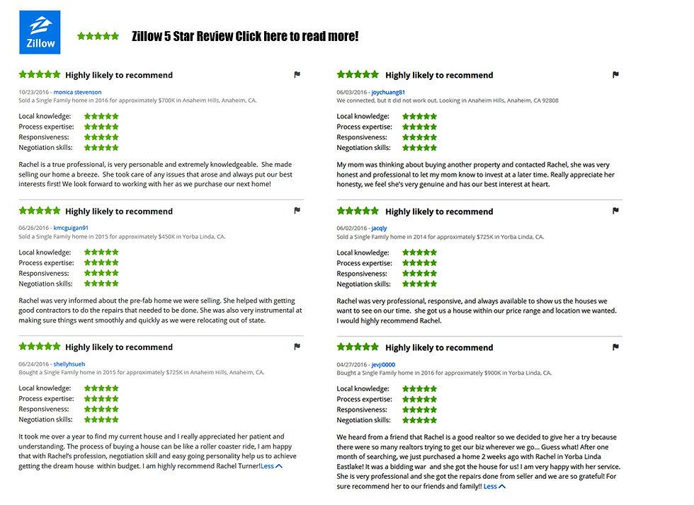 Rachel Turner Zillow Review