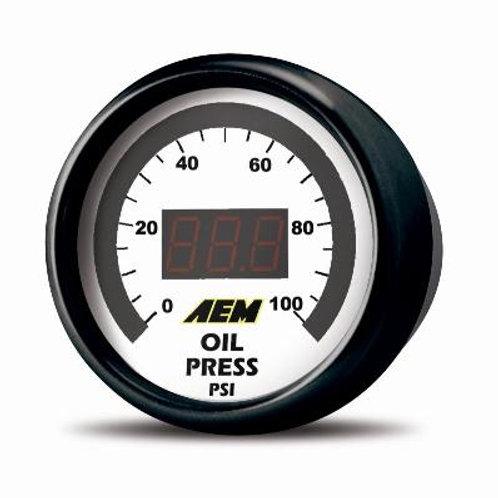 AEM Digital Oil/Fuel Pressure Gauge 0-100PSI