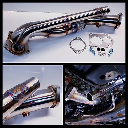 Strictly Modified Ralliart 02 Eliminator Downpipe Open Dump & Recirculated