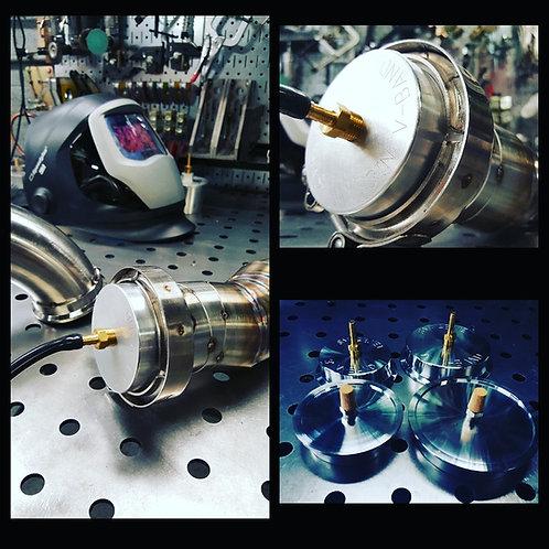 """SMFAB V2 3"""" V-Band Back Purging Cap / Heat Sink (Single Cap or Set of 2)"""