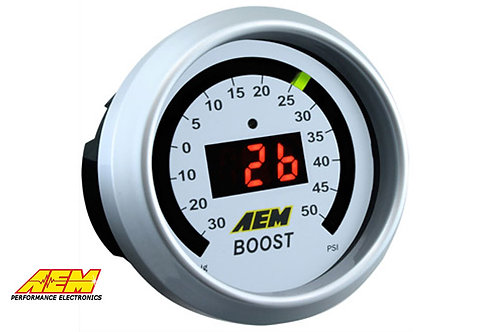 AEM Digital Boost Display Gauge 30Vac - 50PSI