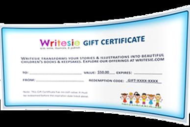 Writesie eGift Card ($25 and up...)