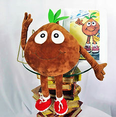 "Meet Henry The Tulip Bulb, the world's most famous tulip and WritesiePal who teaches children how to have an attitude of gratitude. This 16"" custom stuffed WritesiePal figure was created from Henry's 2D drawing shown just to the right.  Children of all ages love WritesieBooks and WritesiePals."