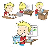 WritesieBooks are custom paperback, custom hardback, custom eBooks or custom audiobooks that are created from your child's own writing and drawing.  Just write and illustrate the story and upload the manuscript to us. Writesie will turn your child's story into a treasured keepsake for the whole family. With the WritesieBook Classic package you get multiple copies of your child's book in paperback form, while the WritesieBook Pro package provides hardback copies—with both packages you have the option of selling your child's book on Amazon & B&N too!  Upgrades are available for custom eBooks and custom audiobooks.  Imagine the thrill.