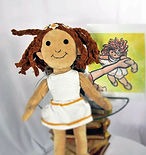 """This lovingly crafted WritesiePal brings """"A Thread of Hope"""" to little girls everywhere who have had a difficult upbringing.  She was crated from the 2D drawing shown right which is part of the """"Thread of Hope"""". The book was written especially for little ones in orphanages, shelters, and all seeking eternal hope only Jesus can bring."""