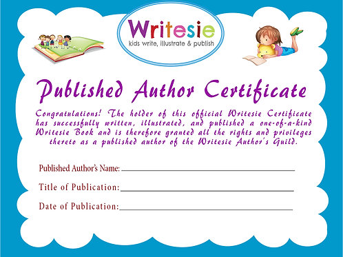 """Published Author"" Certificate"