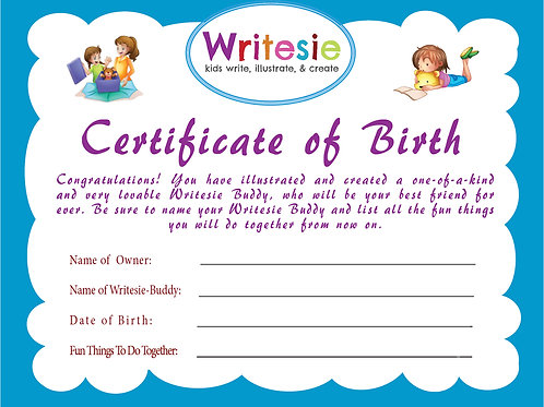 """Birth Certificate"" for Your Custom Stuffed"