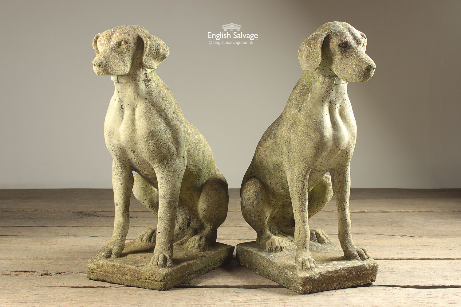 reclaimed dog statues