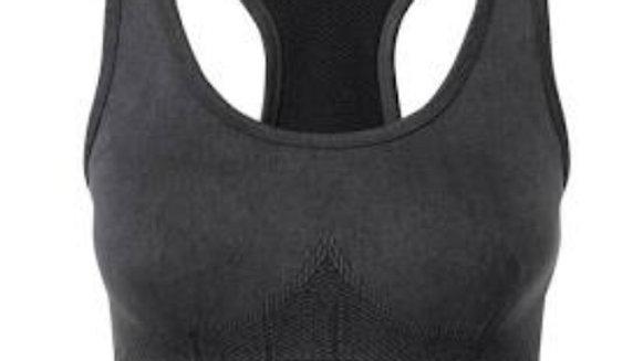 Black Denim effect Bra top