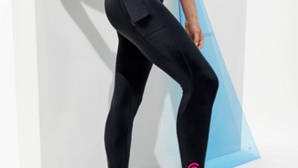 Black Hourglass Pocket Leggings
