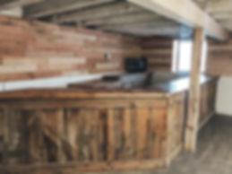 Private bar at barn wedding venue