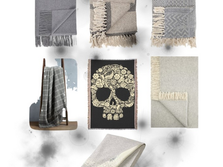 Interior Inspiration: Shades of Grey Meets Winter Throws