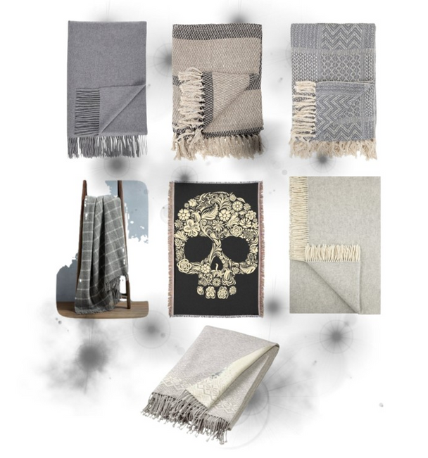 Interior Inspiration: Shades of Grey Meets Winter Throws