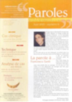 Testimonianza del dottor Francesco Santi, pubblicata su Paroles, rivista della scuola di formazione in Dentosofia