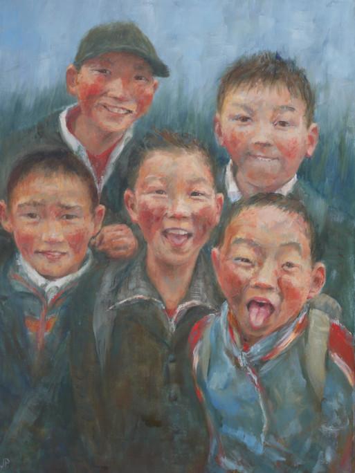'Five Boys.  Mongolia'