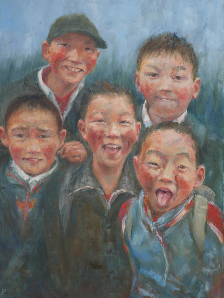 'Five Boys.  Mongolia'