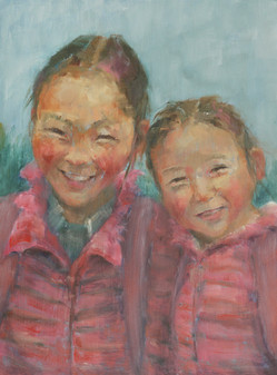 Sisters. Proud in Pink. Mongolia'