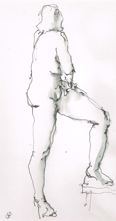 'Life Model - Backward Glance' (L) Hand
