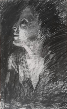 'Young Woman, Low Light'