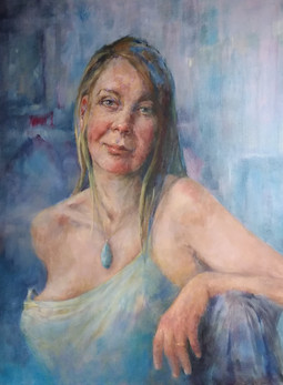 Woman with Blue Medallion