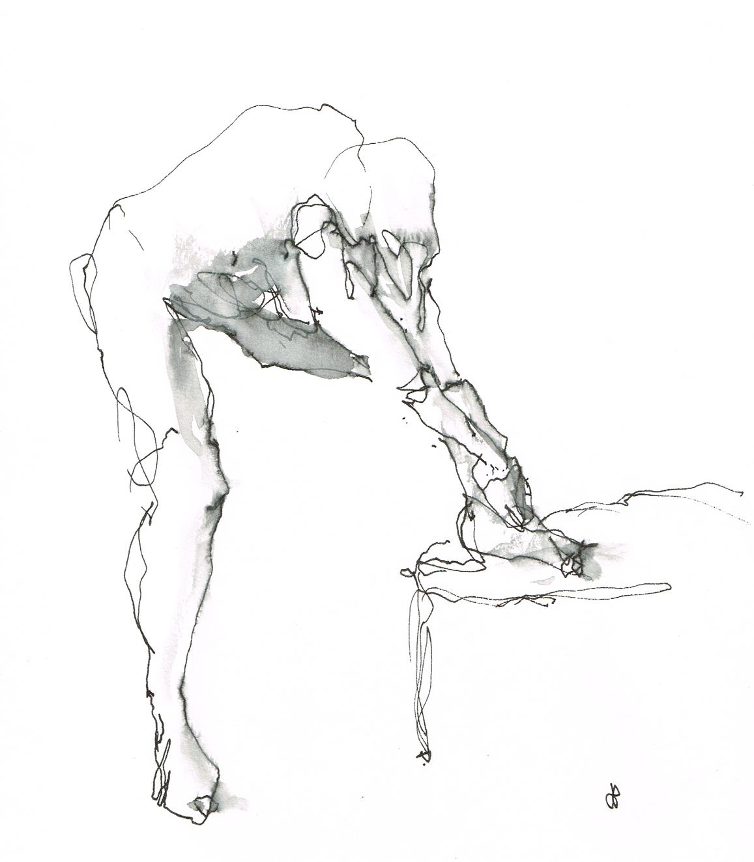 'Life Model - Reaching' - (L) Hand