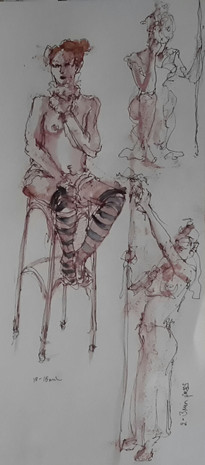 Drawing Circus - Seated Artiste