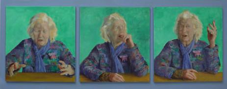 #'M E Burkett OBE' Triptych 2013