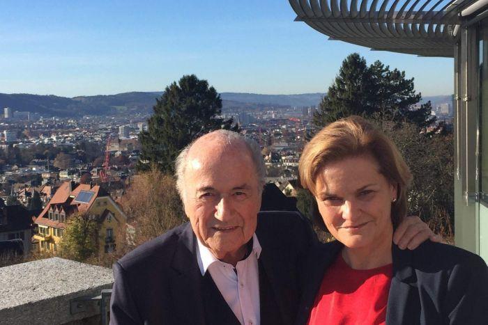 Sepp Blatter and Bonita Mersiades