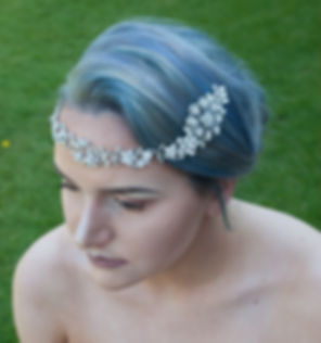 Bespoke bridal front of head hairvine