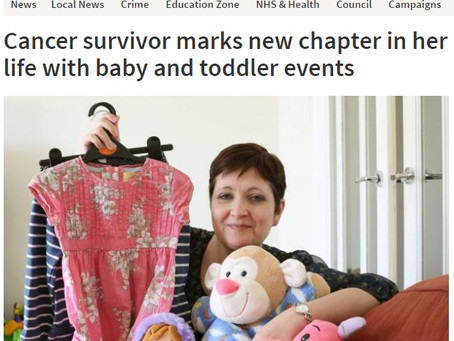 Cancer survivor marks new chapter in her life with baby and toddler events