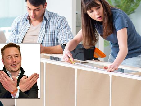 Elon Musk Rescues Newlywed Couple Assembling IKEA Bookcase