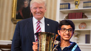 Trump Pulls All Nighter With Spelling Bee Champ, Bolstering Command of Words