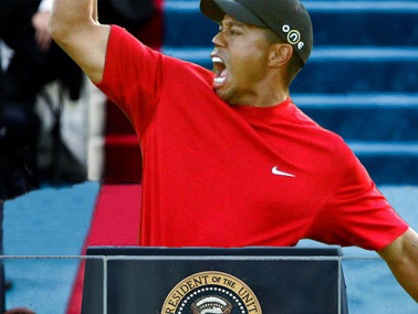 Golf and Porn Star Enthusiast Trump Lays Groundwork for Tiger Woods Presidency