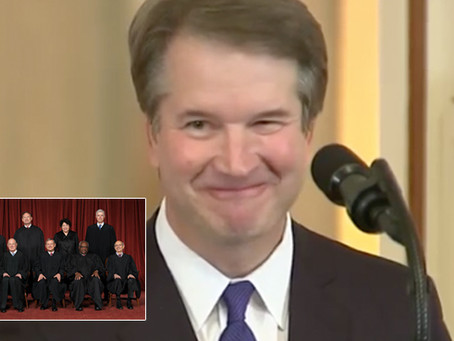 Justices Haze Newest Pledge Brett Kavanaugh with Cryotherapy to Remove All Facial Expressions